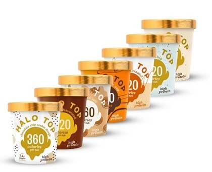 Image showing Halo Top range of ice creams